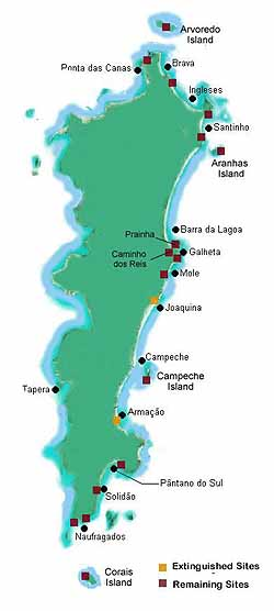 S. Catarina Island map
