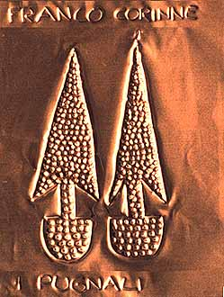 Copper Age daggers (Corinne, 11 years, embossed copper)