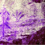 Rocca di Cavour, pitture rupestri