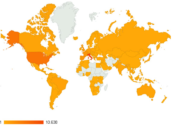 TRACCE 2012 stats countrymap