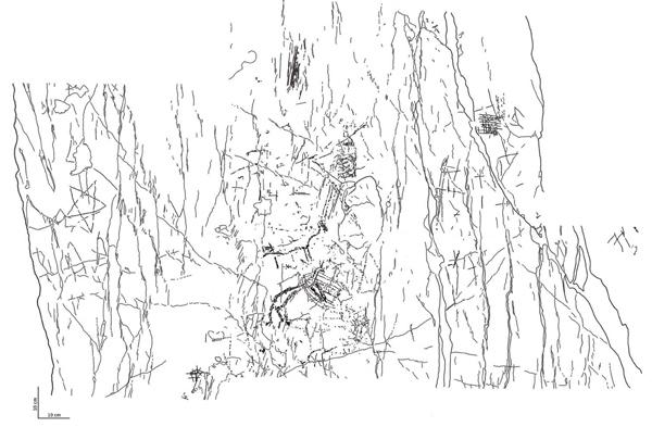 Fig. 3 Rilievo del Settore A (rielaborazione grafica: D. Sigari).