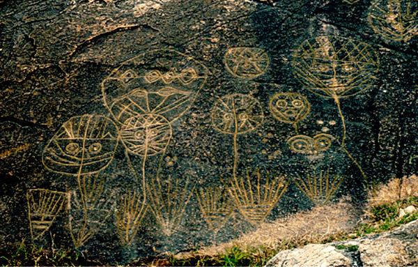 Rock art in Lianyunguang