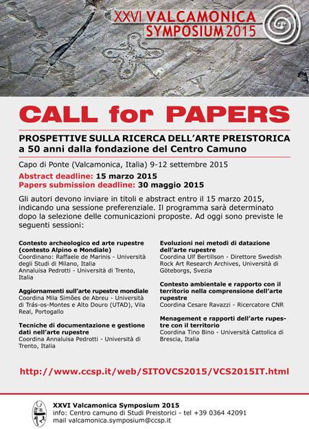 Il poster del Valcamonica Symposium 2015