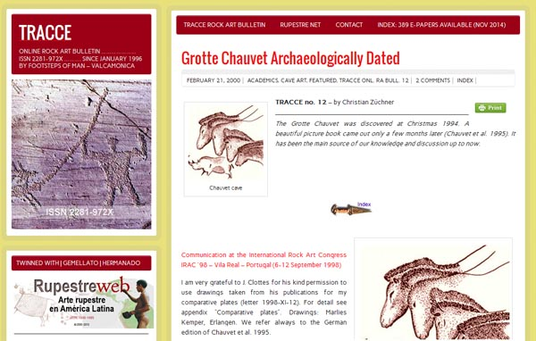 TRACCE Online Rock Art Bulletin, the Christian Züchner paper