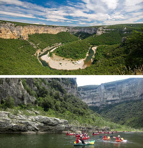 The Ardèche gorges
