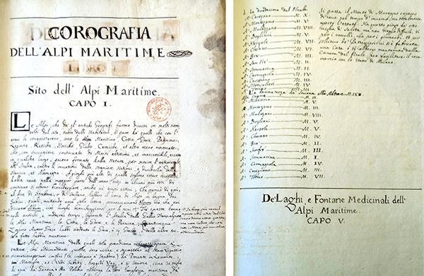 Corografia dell'Alpi Maritime by Pietro Gioffredo