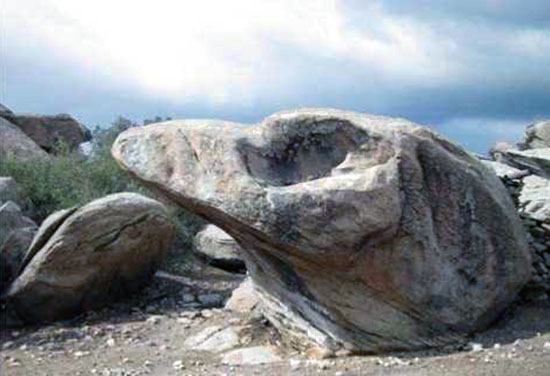 "Fig. 7 – Weathered form in the Latmos: ""eagle's head"""