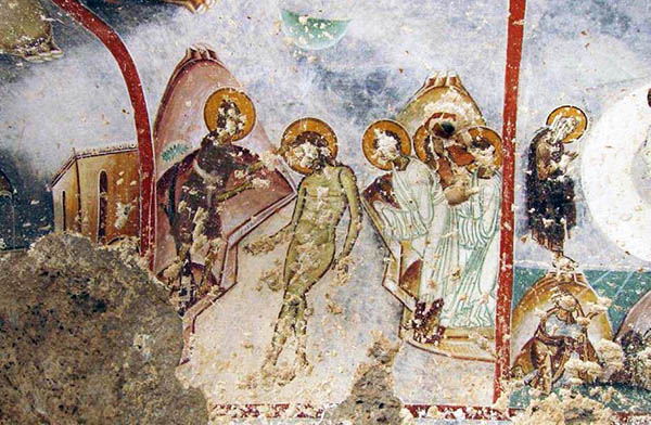Fig. 18 – Yediler. Detail of Byzantine fresco depicting the baptism of Christ