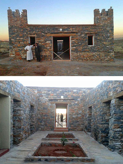 Boutrouch, sud du Maroc, projet de la conservation des gravures rupestres