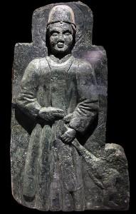 Usseglio Museum, the St. Bernard stone bas-relief <br />  (photo<em>Footsteps of Man</em>)