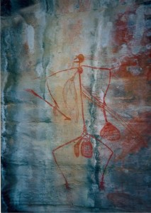 Fig. 1 Mabuyu, hunting fugure, Ubirr Art site, Kakadu National Park (Photo: Marisa Giorgi).