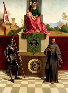Fig. 5 Pala di Castelfranco di Giorgione (Immagine tratta da: https://it.wikipedia.org/wiki/Pala_di_Castelfranco#/me dia/File:Giorgione_-_Pala_di_Castelfranco.jpg).