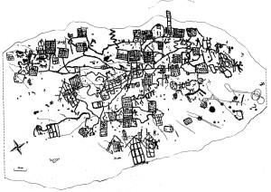 Fig. 12 Mappa di Bedolina (Rilievo Coop Le Orme dell'Uomo)