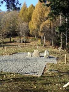 Fig. 13 Anvoia. Le stele del santuario (archivio Le Orme dell'Uomo)
