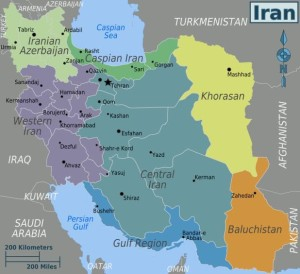 Fig. 2 Le regioni dell'Iran (immagine tratta da: https://www.worldofmaps.net/typo3temp/images/karteiran- regionen.png)