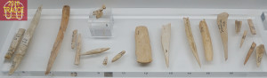 Fig. 11. Bone tools, exhibited in the museum