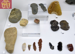 Fig. 11. Stone tools, exhibited in the museum